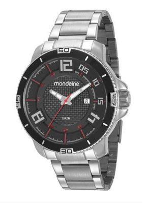 RELÓGIO MONDAINE MASCULINO PRATA 53667G0MVNS2