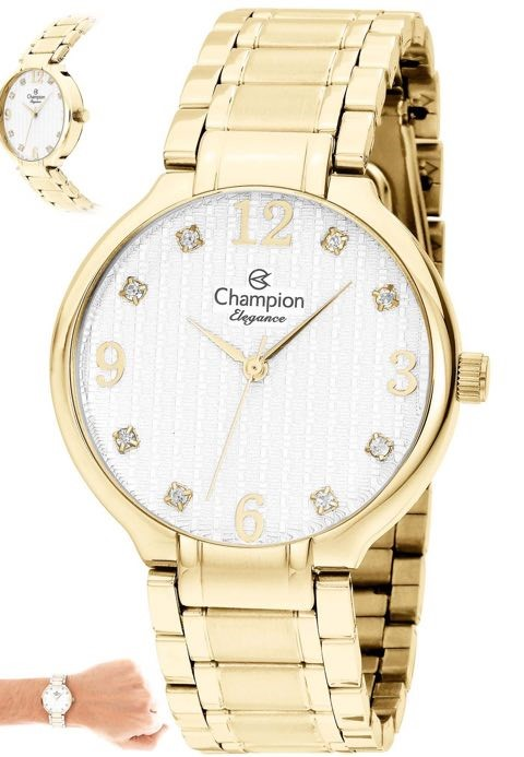 Relógio Champion Feminino Dourado CN26831H