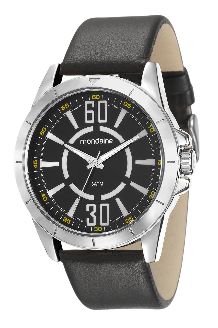 Relógio Pulseira de Couro Mondaine Masculino 76669G0MVNH1