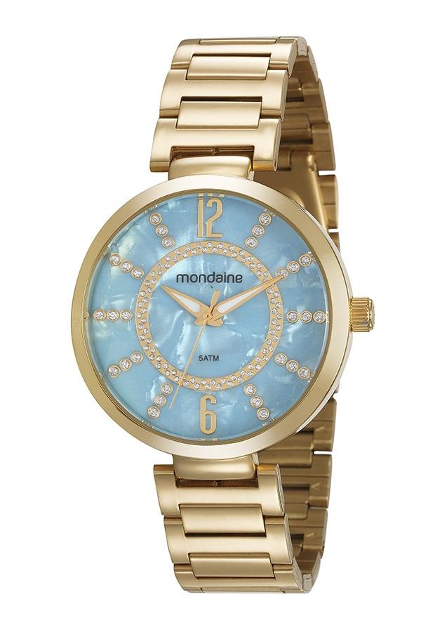 Relógio Mondaine Feminino Dourado 53617LPMKDE1