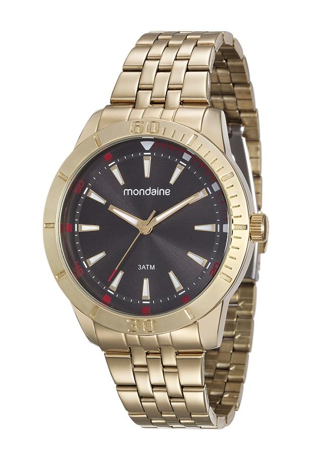 Relógio Mondaine Masculino Dourado 99144GPMVDE2