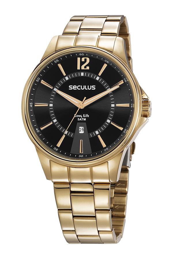 Relógio Seculus Masculino Dourado - 35016GPSVDA1