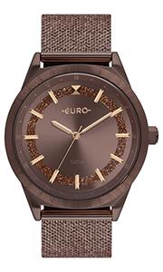 Relógio Feminino Marrom Euro Esteira EU2036YPX/4M