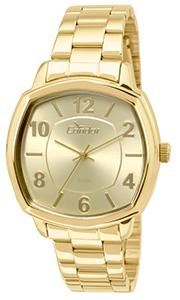 Relógio Condor Feminino Dourado Quadrado