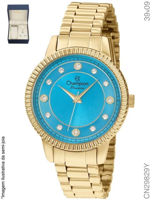 Relógio Champion Feminino Dourado CN29829Y