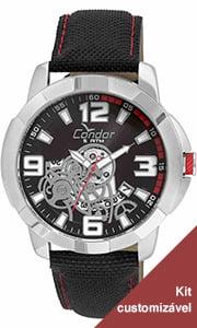 Relógio Condor Masculino Pulseira de Silicone CO2415BK/K8P
