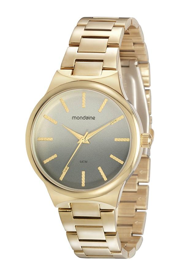 Relógio Mondaine Feminino Dourado Fundo Colorido
