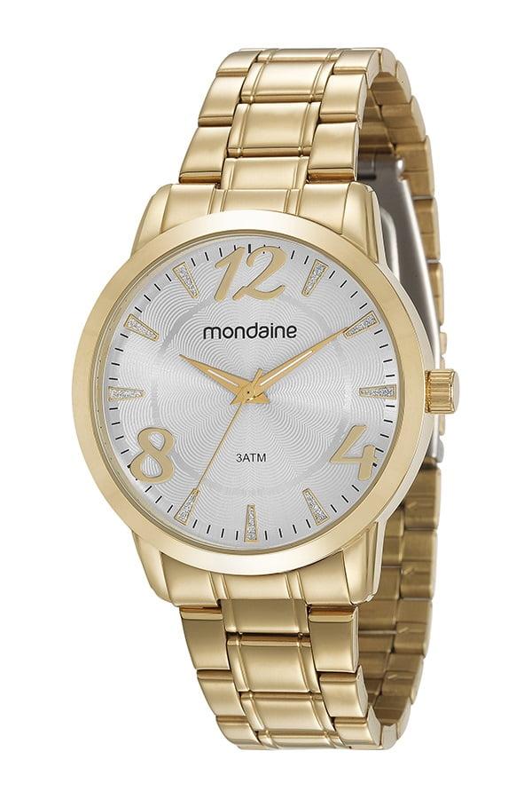 Relógio Mondaine Feminino Dourado 3ATM