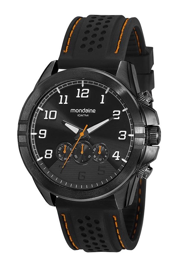 Relógio Mondaine Masculino Cronógrafo com Pulseira em Silicone