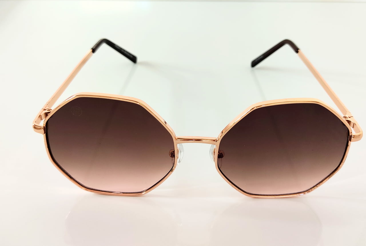 Óculos Solar Feminino Octogonal Rafalu H02371 C4