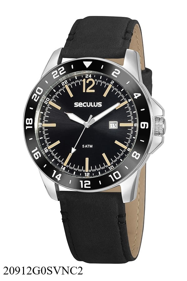 Relógio Masculino em Couro Seculus