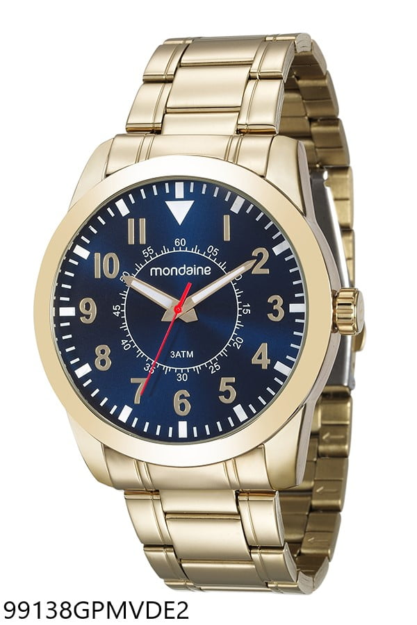 Relógio Mondaine Masculino Dourado 99138GPMVDE2