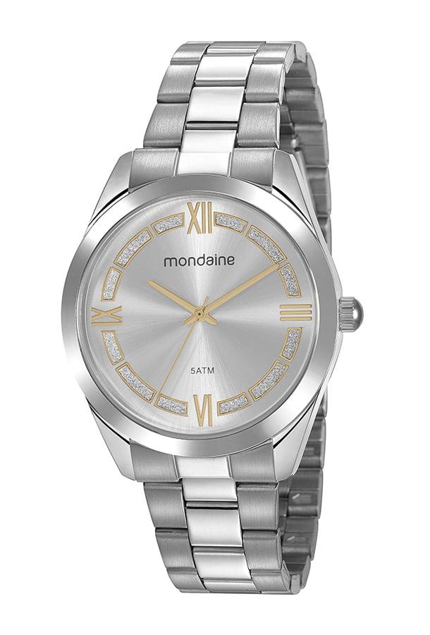 Relógio Mondaine Feminino Prata 53816L0MVNE1