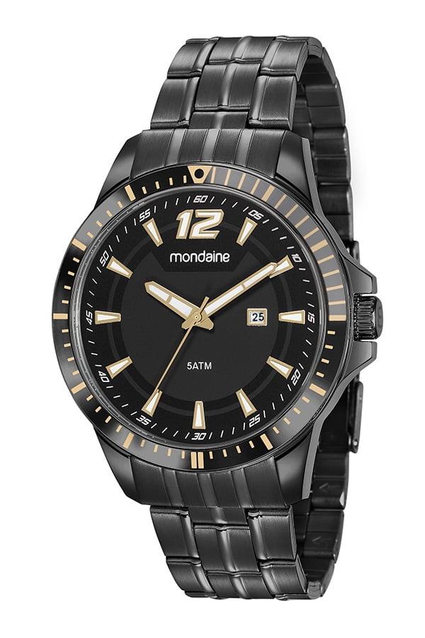 Relógio Mondaine Masculino Preto 78764GPMVPA2