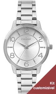 Relógio Condor Feminino Prata CO2035MOU/K3K