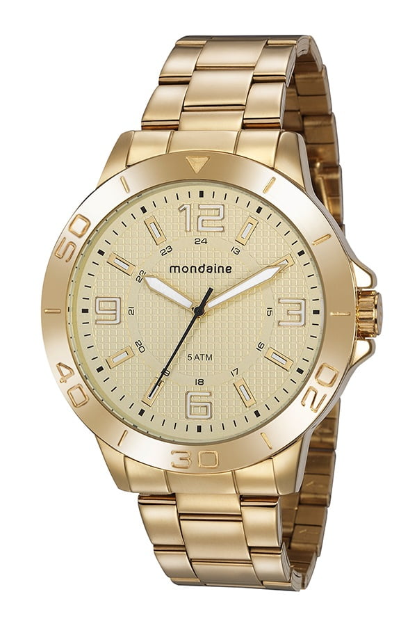 Relógio Mascuino Mondaine Dourado