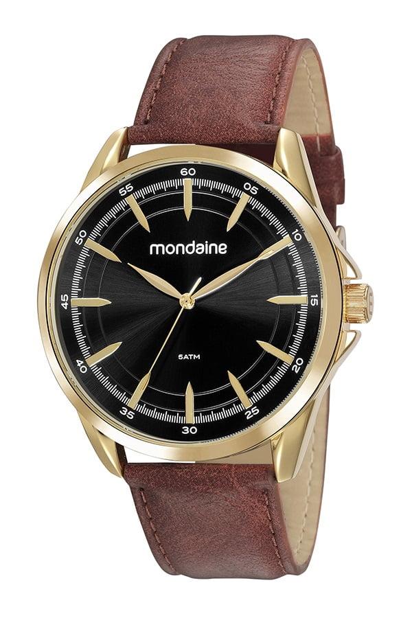 Relógio Masculino Pulseira de Couro Mondaine