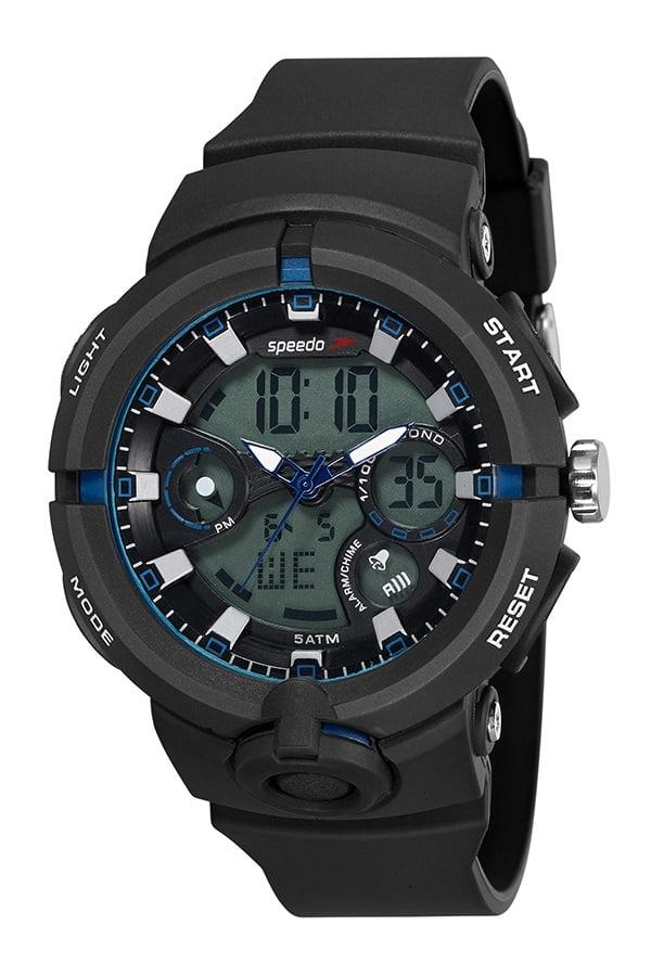 Relógio Speedo Masculino Esportivo Preto 81158G0EVNP3