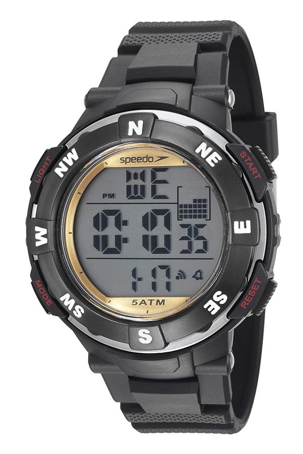 Relógio Speedo Masculino Esportivo Preto 81165G0EVNP2