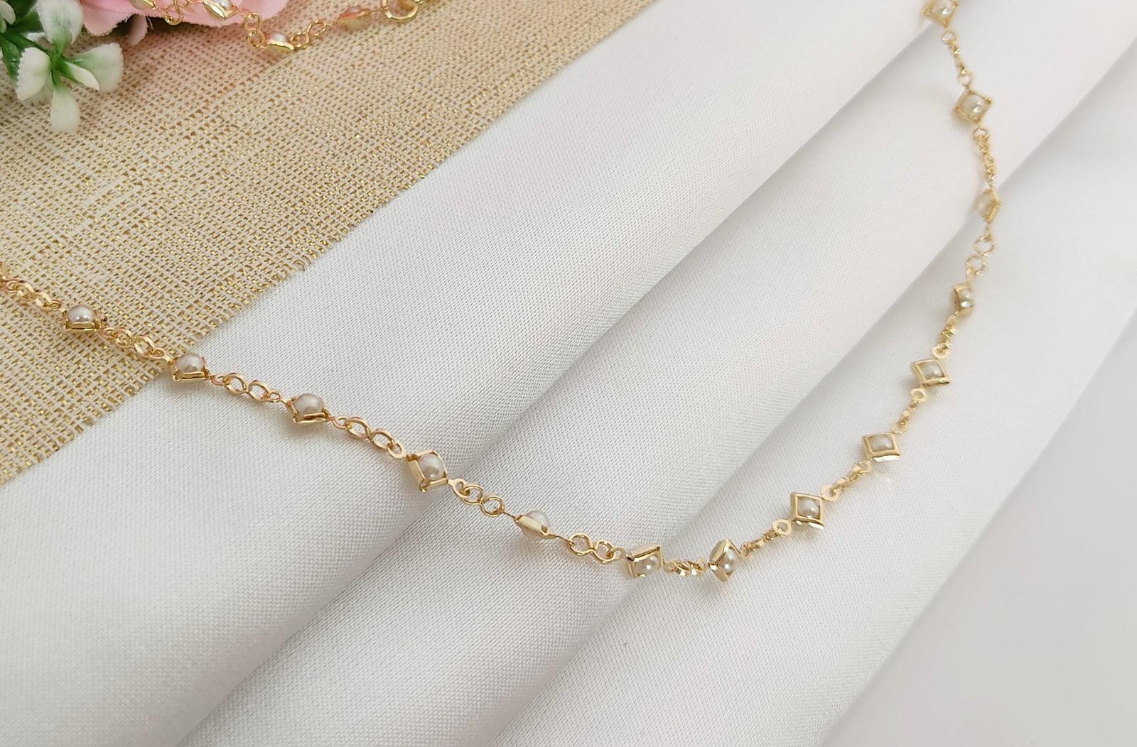 Gargantilha Banhado a Ouro Rafalu (80 cm) - COL0002G1