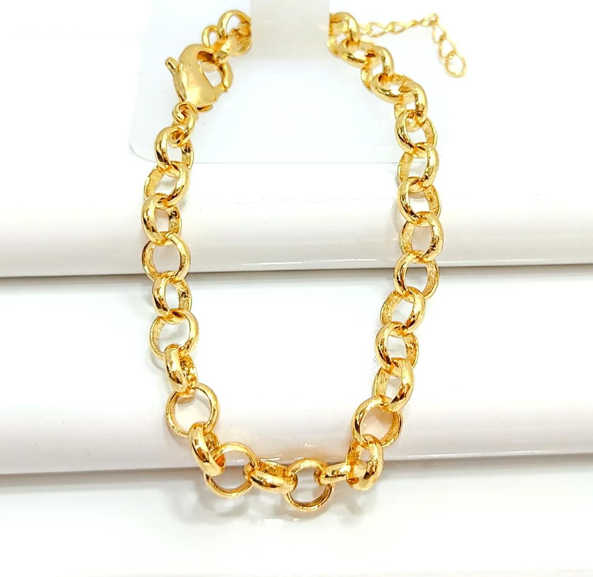 Pulseira Banhado a Ouro Rafalu (17.5 cm + extensor)  - PUL0009D1