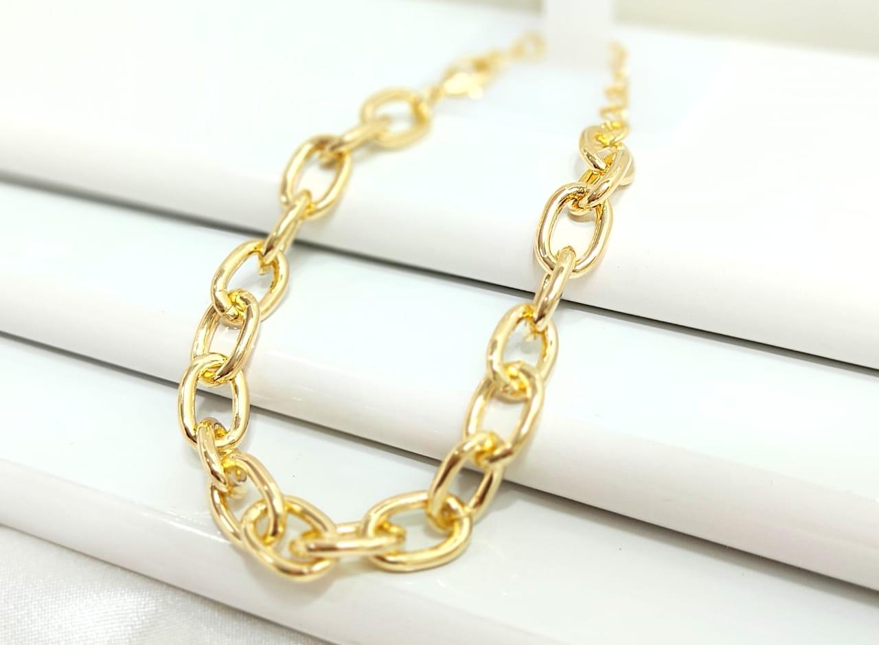 Pulseira Cartier Banhada a ouro Rafalu (18 cm + extensor) 5 ANOS DE GARANTIA - PUL0002i1