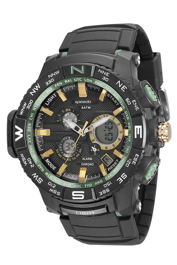 Relógio Speedo Masculino Esportivo Preto 81118G0EVNP5