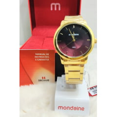 Kit Relógio Feminino Mondaine + Colar e Brinco