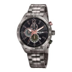 Relógio Cinza Seculus Cronógrafo Aço Original 20767GPSVSA2