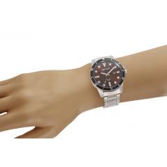 Relógio Seculus Masculino Prata + Carteira 20789G0SVNA2K1