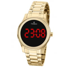 Relógio Champion Digital Feminino Dourado CH48046H
