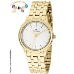 Relogio Feminino Dourado Champion + pulseira CN20435B
