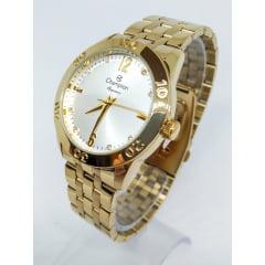 Relógio Feminino Dourado Champion + pulseira CN26699S