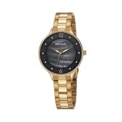 Relógio Seculus Feminino Dourado 77048LPSVDS1