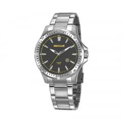 Relógio Todo em Aço Masculino Seculus Prata 20810G0SVNA3