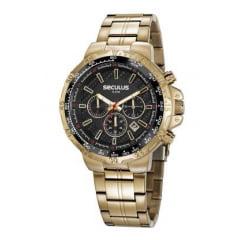 Relógio Masculino Dourado Cronógrafo Seculus 20780GPSVDA1