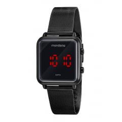 Relógio Mondaine Digital Quadrado Preto 32008MPMVPE3