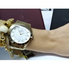 Relógio Champion Feminino Dourado + Pulseira CN24137S