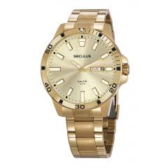 Relógio Masculino Caixa Grande Seculus Original 20795GPSVDA2