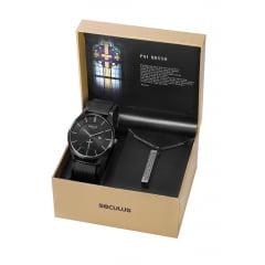 Relógio Seculus Masculino Tema: Pai Nosso 20769GPSKPA1K1