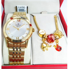Relógio Champion Feminino + Pulseira CN26957S