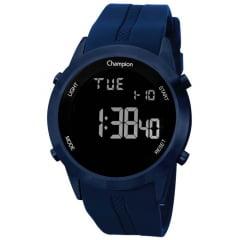 Relógio Champion Digital Azul Pulseira de Silicone CH40259A
