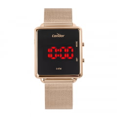 Relógio Condor Digital Rosê Quadrado COJHS31BAB/4J