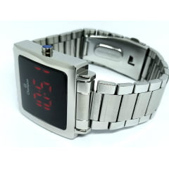 Relógio Champion Quadrado Digital Prata CH40197T