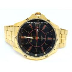 Relógio Dourado Caixa Grande Seculus 23670GPSVDA1