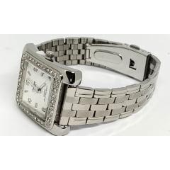 Relógio Champion Feminino Quadrado Prata CN28606Q
