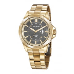 Relógio Seculus Masculino Dourado 35023GPSVDA1