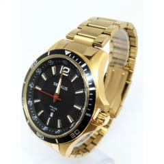 Relógio Masculino Seculus Dourado 77033GPSVDA1