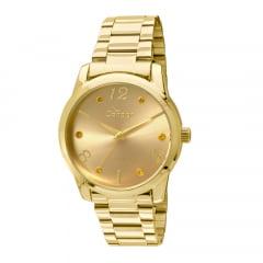 Relógio Condor Feminino Dourado + Colar e Brinco CO2035KLR/K4L