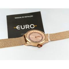 Relógio Euro Rosê Pusleira Esteira EU2036YPU/4J